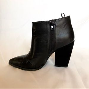 H&M black faux leather booties